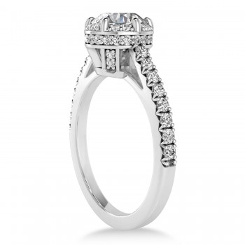 Diamond Sidestones Engagement Ring 14k White Gold (0.44ct)