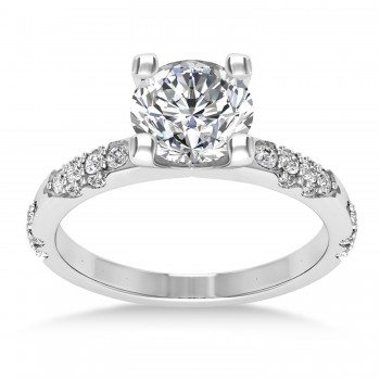 Diamond Prong Engagement Ring 14k White Gold (0.32ct)