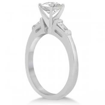 Three Stone Baguette Diamond Engagement Ring platinum (0.20ct)