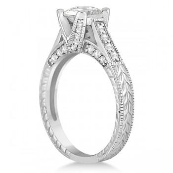 Antique Style Diamond Engagement Ring Setting Palladium (0.40ct)