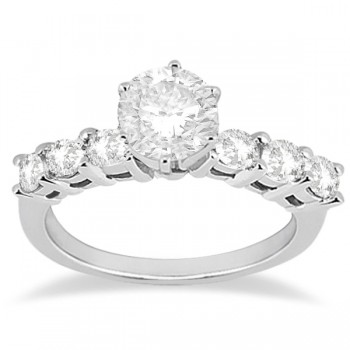 0.65ct Diamond Engagement Ring with Matching Wedding Band 14k White Gold