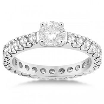 Eternity Diamond Engagement Ring Setting Women's Palladium 0.40ct