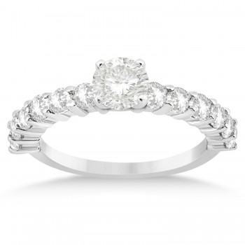 Diamond Accented Bridal Set 14k White Gold 1.75ct