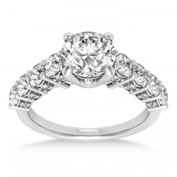 Diamond Prong Set Engagement Ring 14k White Gold (1.06ct)