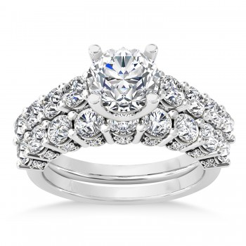 Diamond Prong Set Bridal Set 14k White Gold (2.23ct)