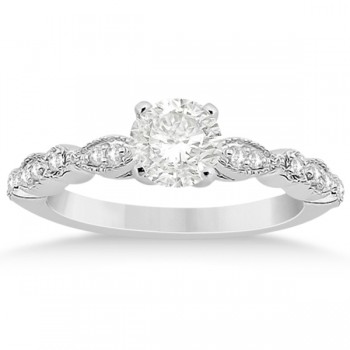 Petite Marquise & Dot Diamond Engagement Ring