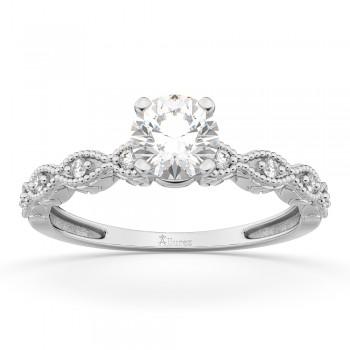 Petite Marquise Diamond Engagement Ring 14k White Gold (0.10ct)