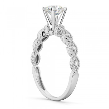 Petite Marquise Diamond Engagement Ring 18k White Gold (0.10ct)