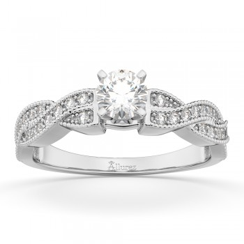 Infinity Twisted Diamond Engagement Ring