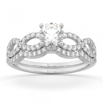 Infinity Twisted Diamond Matching Bridal Set