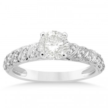 Diamond Swirl Bridal Set 14k White Gold 0.41ct