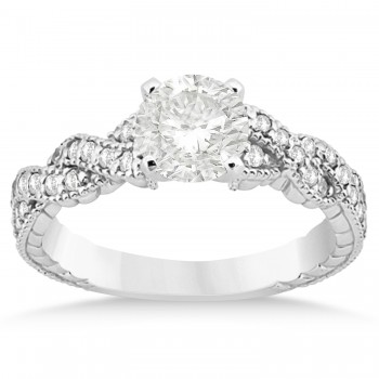 Diamond Braided Bridal Set 14k White Gold 0.44ct