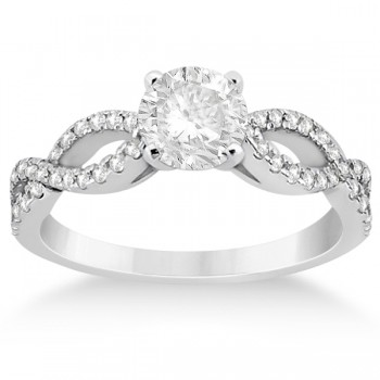 Diamond Twist Infinity Engagement Ring Setting Palladium (0.40ct)