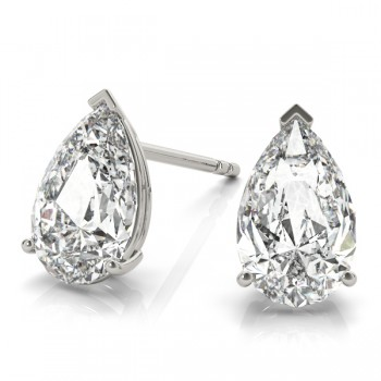 Pear-Cut Diamond Stud Earrings
