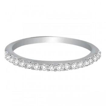 Hidalgo Micro Pave Diamond Eternity Ring Band 18k White Gold (0.26ct)
