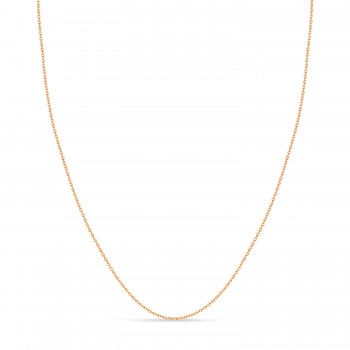Cable Chain Necklace With Lobster Lock 14k Rose Gold