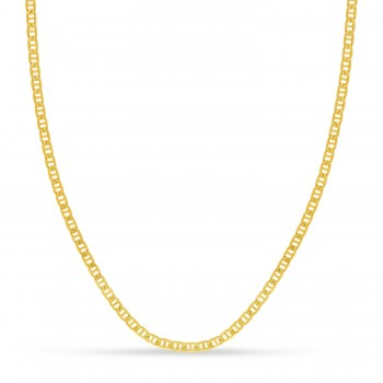 Mariner Chain Necklace With Lobster Lock 14k Yellow Gold