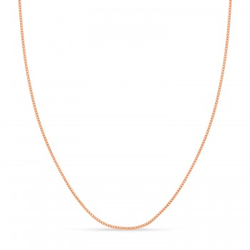 Franco Chain Necklace With Lobster Lock 14k Rose Gold