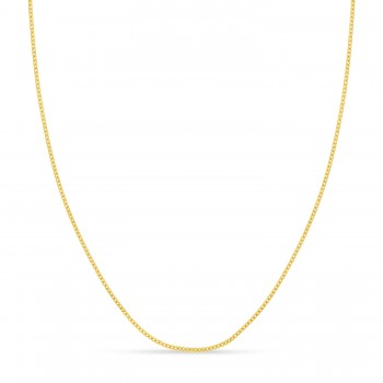 Franco Chain Necklace With Lobster Lock 14k Yellow Gold
