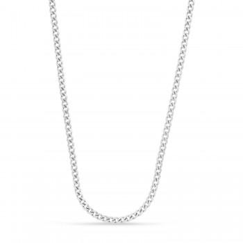 Miami Cuban Chain Necklace 14k White Gold