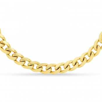Miami Cuban Chain Necklace 14k Yellow Gold