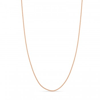 Box Chain Necklace With Lobster Lock 14k Rose Gold