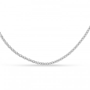 Box Chain Necklace With Lobster Lock 14k White Gold
