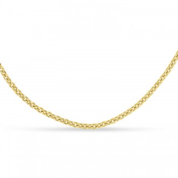 Box Chain Necklace With Lobster Lock 14k Yellow Gold