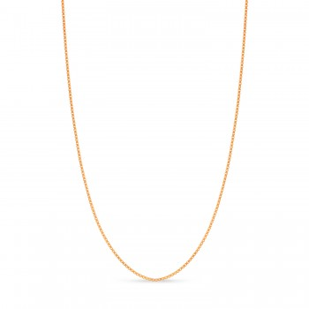 Large Box Chain Necklace With Lobster Lock 14k Rose Gold