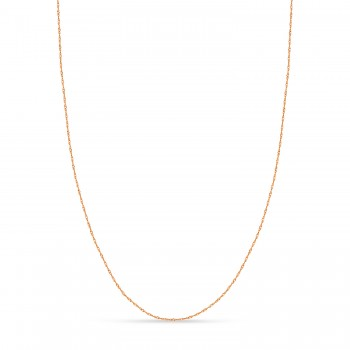 Singapore Chain Necklace With Lobster Lock 14k Rose Gold