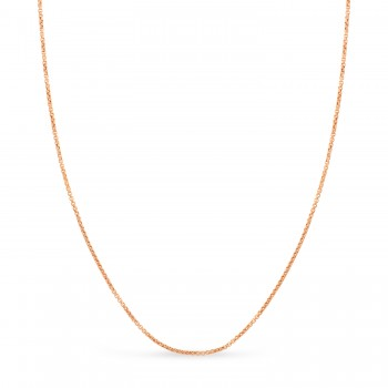 Round Box Chain Necklace 14k Rose Gold