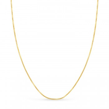 Round Box Chain Necklace 14k Yellow Gold