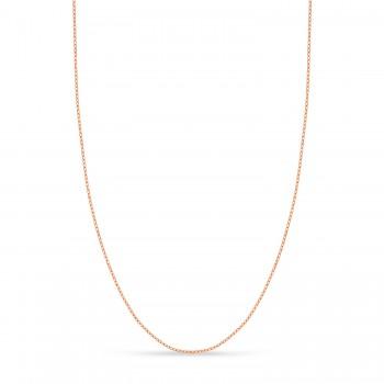 Designer Rolo Chain Necklace 14k Rose Gold