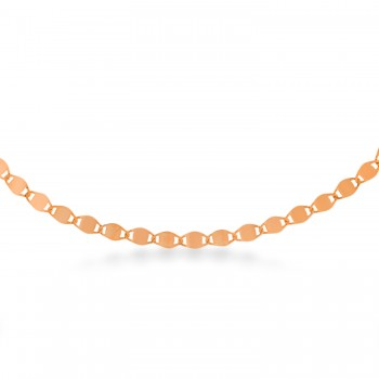 Valentino Chain Necklace 14k Rose Gold