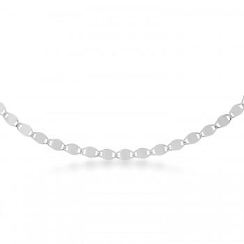 Valentino Chain Necklace 14k White Gold
