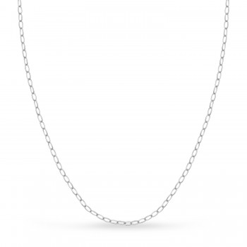 Forzentina Chain Necklace With Lobster Lock 14k White Gold
