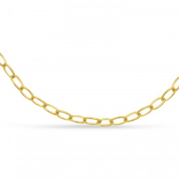 Forzentina Chain Necklace With Lobster Lock 14k Yellow Gold