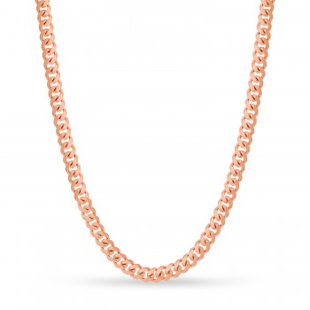 Large Miami Cuban Chain Necklace 14k Rose Gold