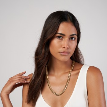 Large Miami Cuban Chain Necklace 14k Yellow Gold
