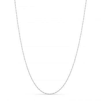Lumacina Chain Necklace 14k White Gold