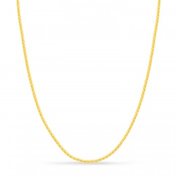 Large Round Box Chain Necklace 14k Yellow Gold