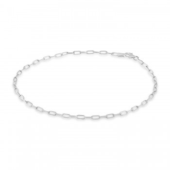 Long Forzentina Chain Necklace 14k White Gold