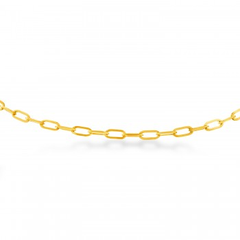 Long Forzentina Chain Necklace 14k Yellow Gold