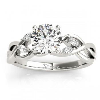 Diamond Marquise Vine Leaf Engagement Ring Setting Platinum (0.20ct)
