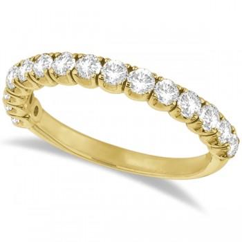 Diamond Wedding Band Anniversary Ring in 14k Yellow Gold (1.00ct)