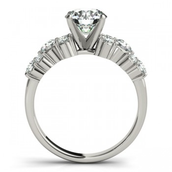 Diamond Garland Engagement Ring Setting 14K White Gold (0.66ct)