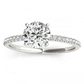 Diamond Accented Engagement Ring Setting Palladium (0.12ct)