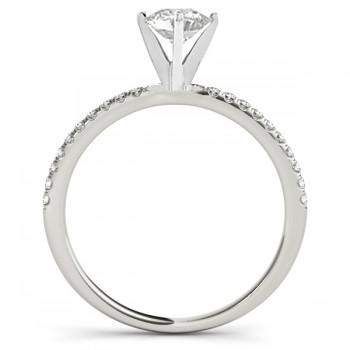 Diamond Accented Engagement Ring Setting Platinum (0.12ct)