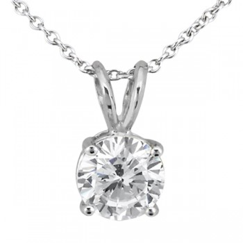 Signature Collection: Round Diamond Solitaire Pendant