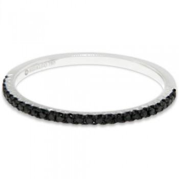 Hidalgo Black Diamond Micro Pave Ring Black Rhodium 18k White Gold